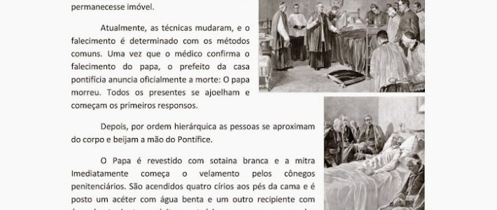 A MORTE DO PAPA – O CONCLAVE